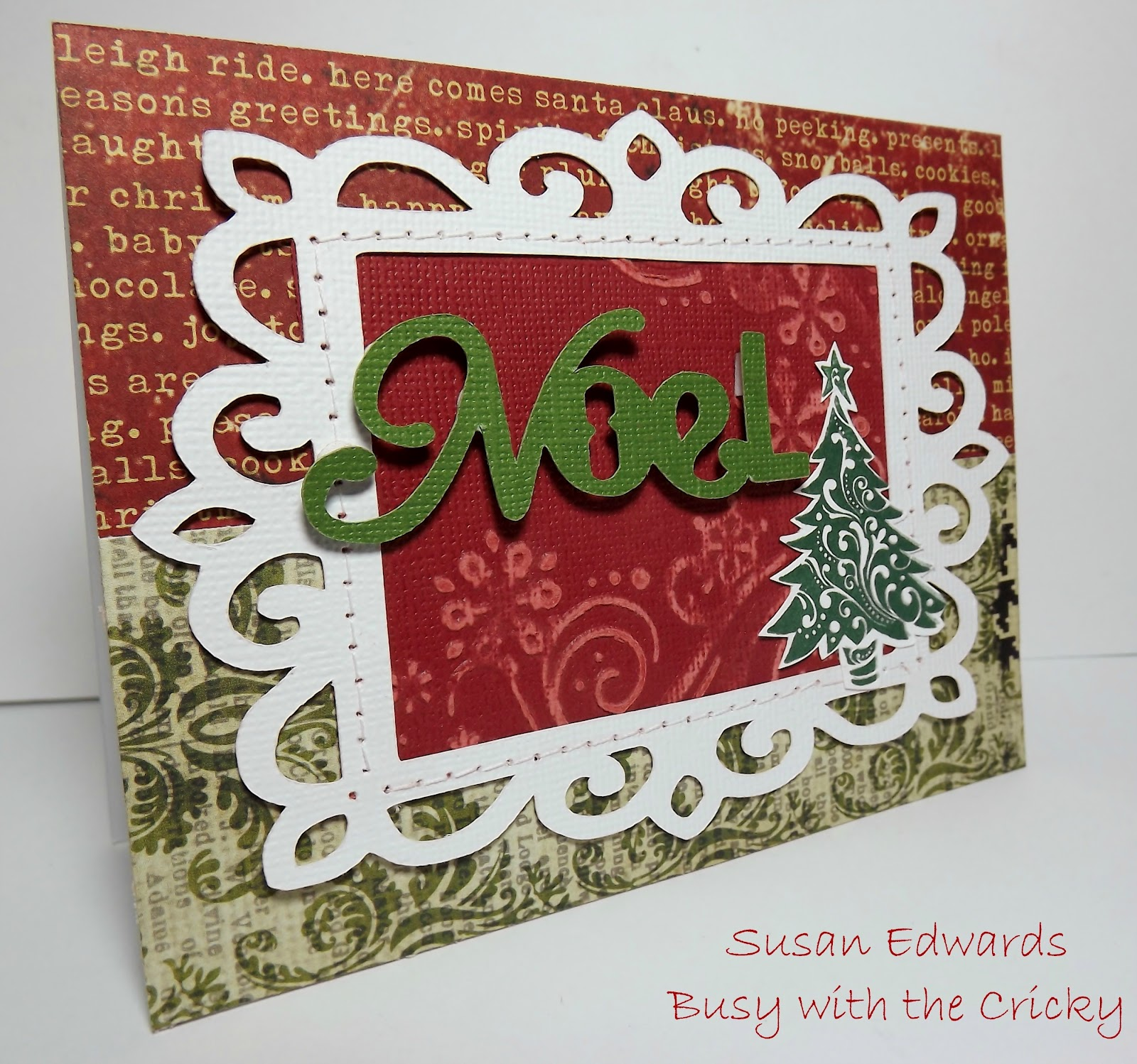 quick and elegant christmas card with artiste - Elegant Christmas Cards