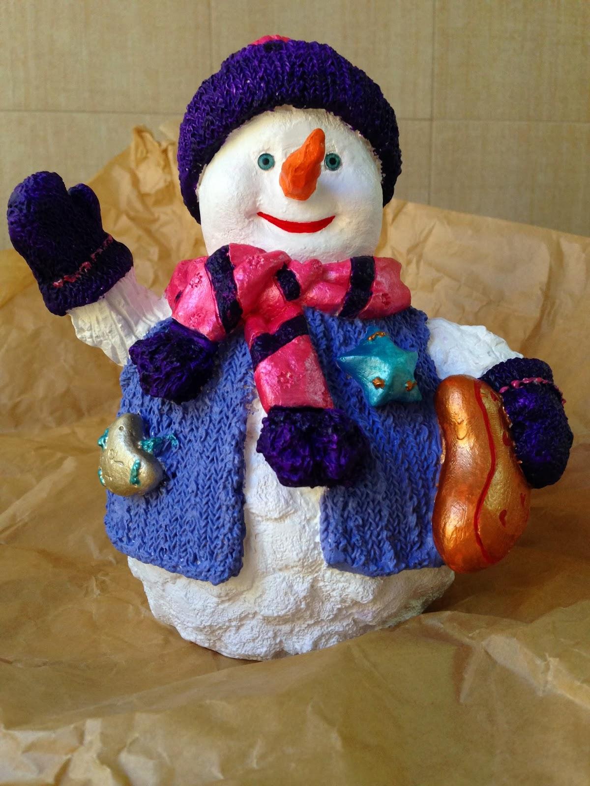 Las Manualidades de Yiya: Figuras de navidad para regalar pintadas a ...