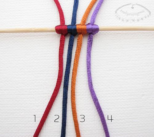 warkocz z czterech sznurków 1