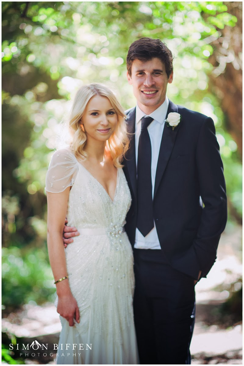Pennard House wedding bride and groom portraits