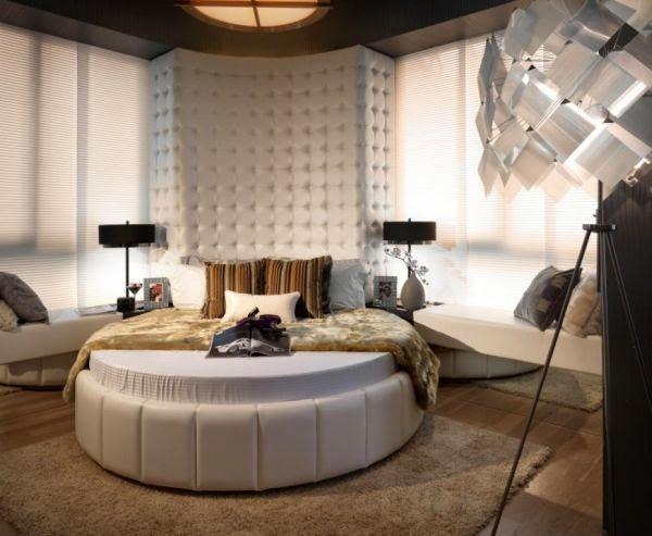 Especial circular bedroom designs