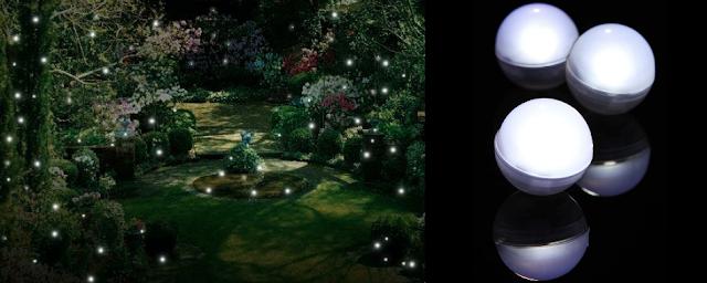 oświetlenie LED w ogrodzie
