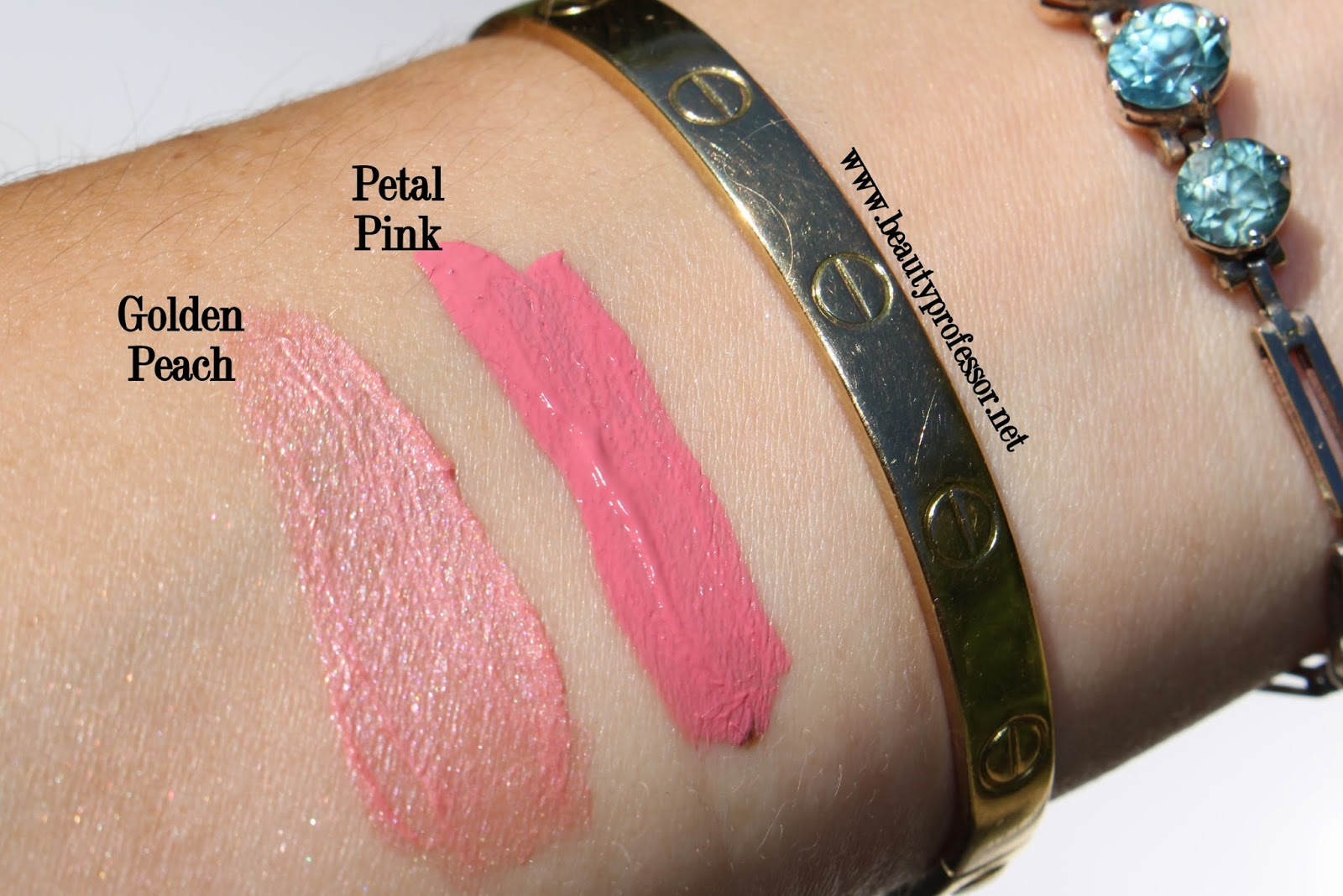 laura mercier paint wash liquid lip color swatches golden peach