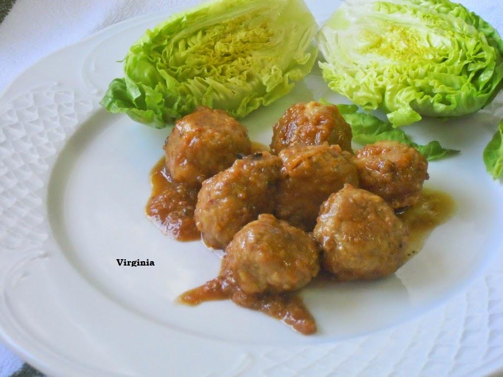 Virginia consuscosas albondigas de ternera en salsa de for Albondigas de verduras