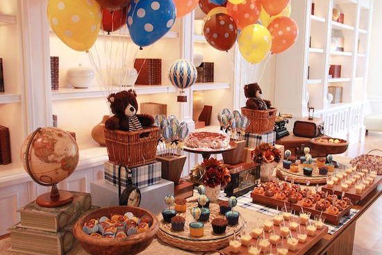 decoracao festa vintage:Vintage Hot Air Balloon Birthday Party Ideas
