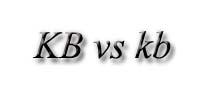 KB vs kb