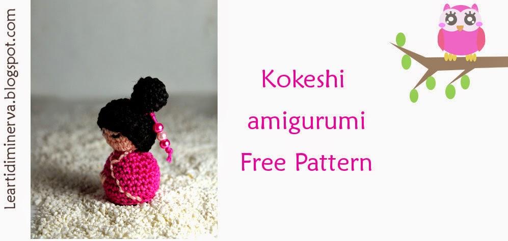 Amigurumi Free Pattern Italiano : MaryJ Handmade: Kokeshi Amigurumi Free Pattern