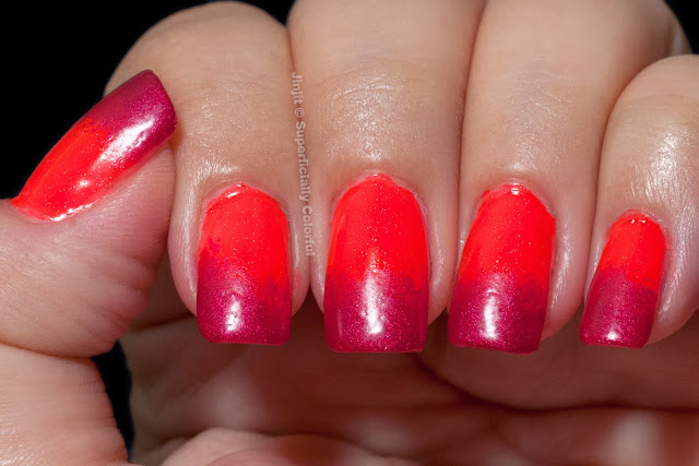 The Nail Junkie Shimmer Jelly Watermelon Zoya Posh