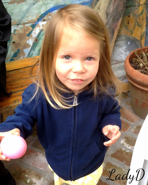 granddaughter with easter egg