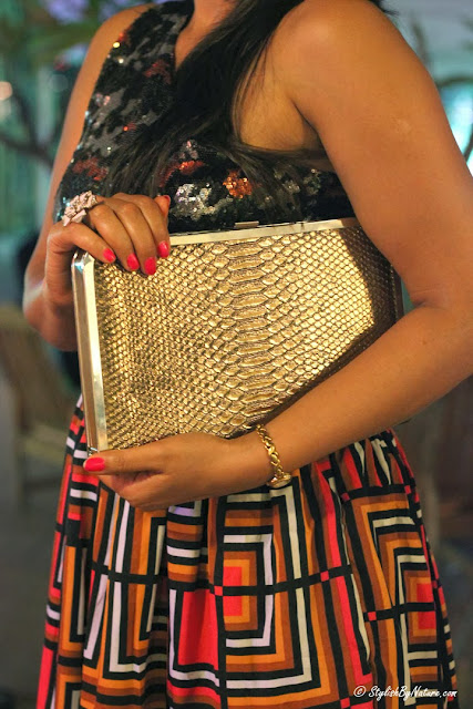 Textured Golden Clutch