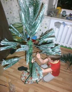 Как собрать новогоднюю ёлку