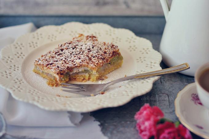 zawsze się udaje, ciasto, z rabarbarem, bezowa pianka, przepis na