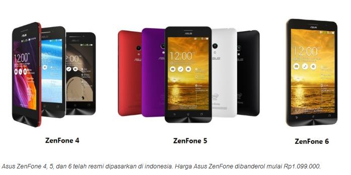 Asus Zenfone Smaart Phone Android Harga 1 Jutaan ASUS