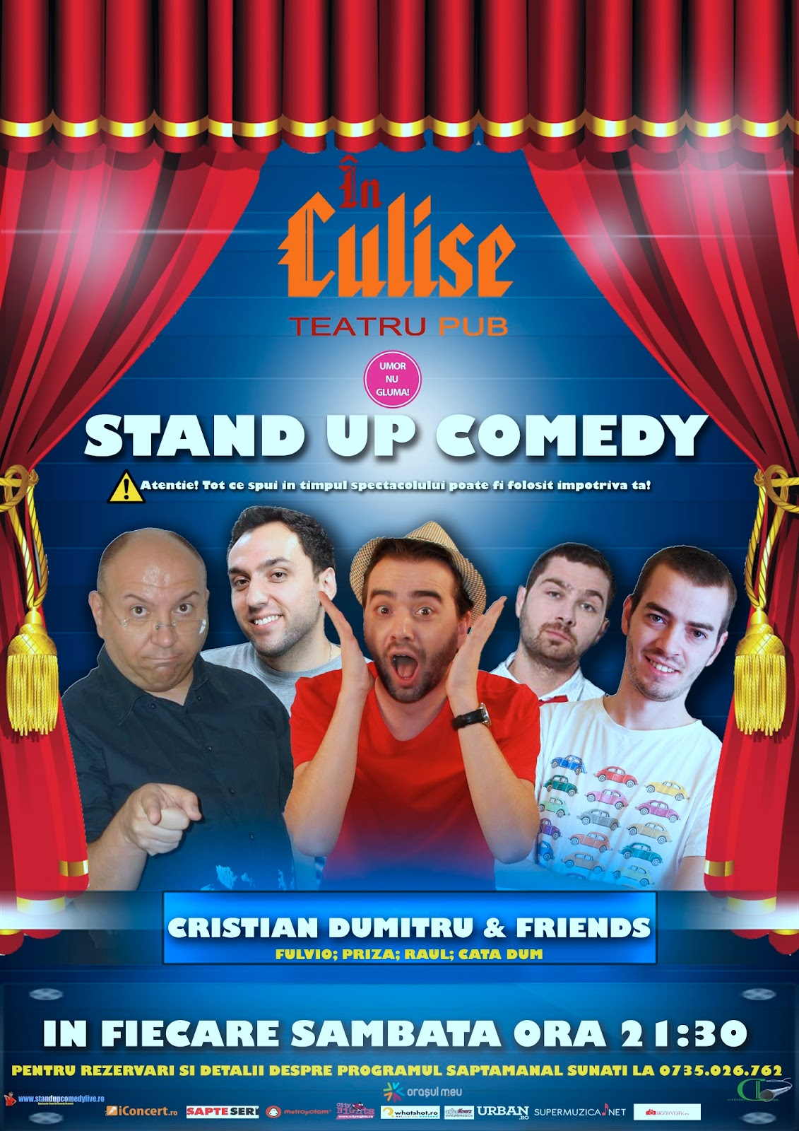 Culise Comedy Club: Stand-up Comedy  sambata