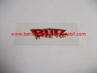 Emblem Metalic Small Blitz Merah