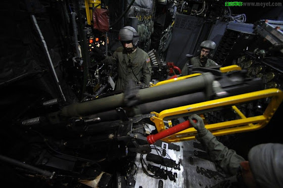 An AC-130U's 105 mm cannon