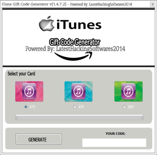Download Itunes Gift Card Code Generator Free | iTunes Download 2016