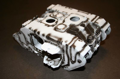 presombreado con negro del Land Raider Prometheus