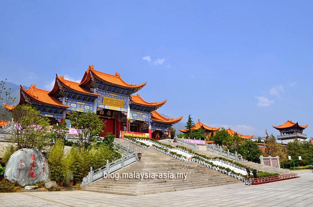 The Chongshang Temple in Dali