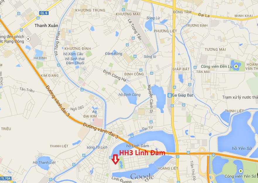 Vị trí dự án chung cư HH1 Linh Đàm