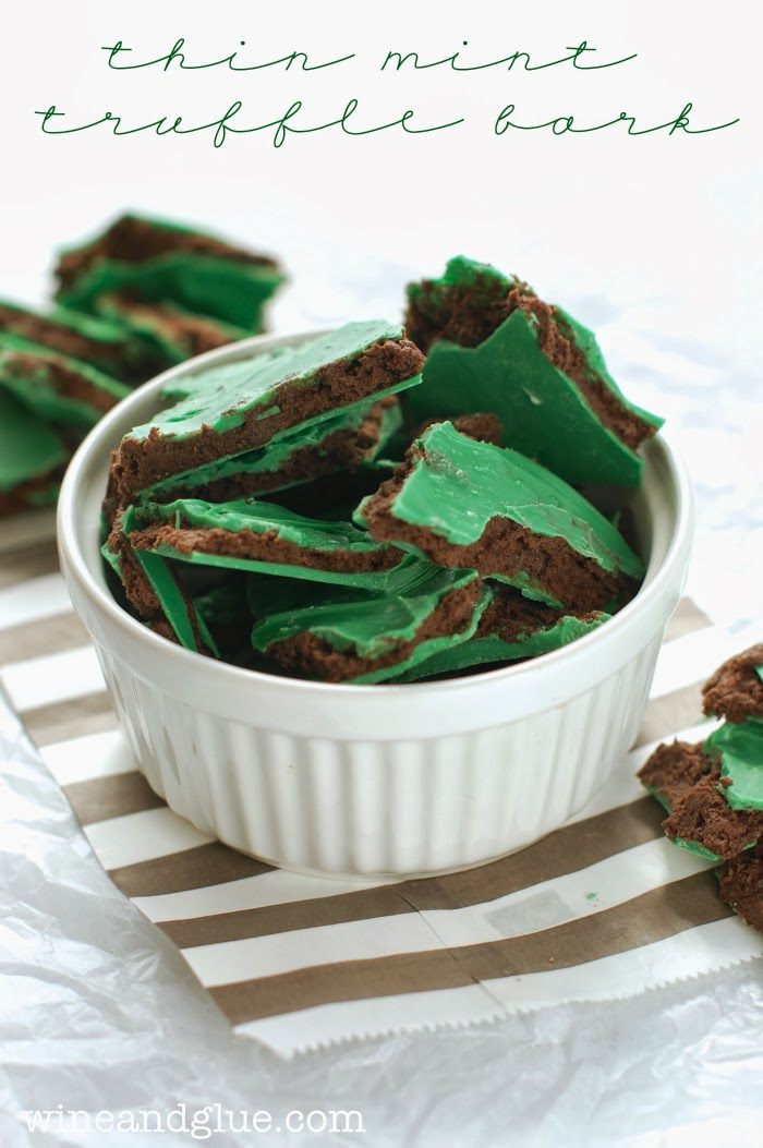 thin mint truffle bark