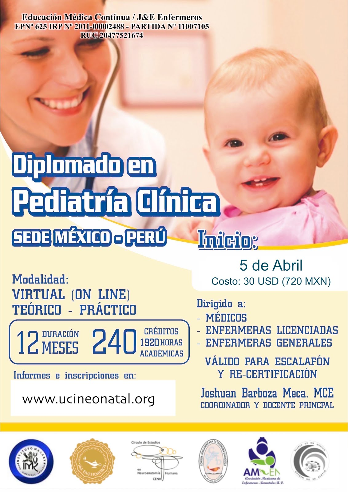 DIPLOMADO PEDIATRIA CLINICA ABRIL 2017