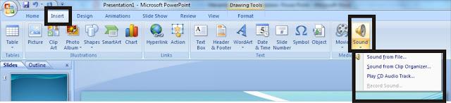 Menambahkan MP3/ Musik kedalam Presentasi Power Point