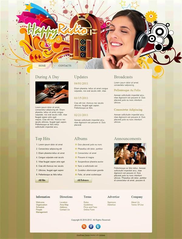Happy Radio - Free Wordpress Theme