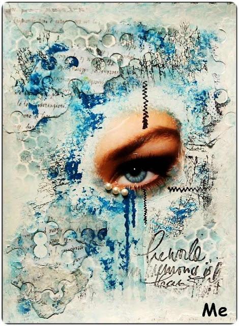 Material der Woche | www.danipeuss.de | Masks Schablonen für Mixed Media Art