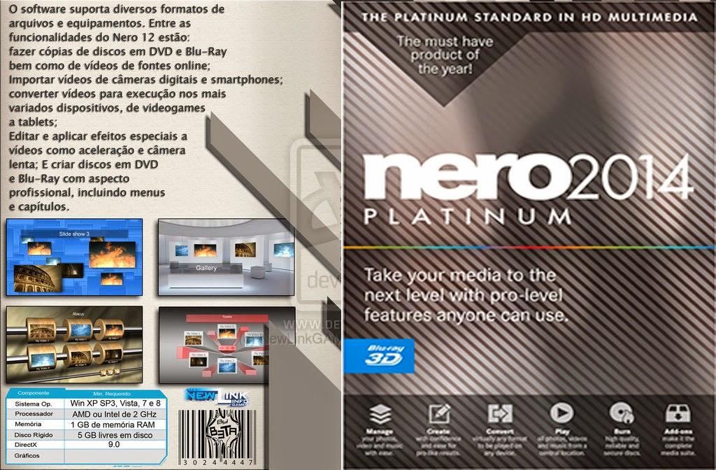 Nero Platinum 2014 + Ativação Nero Platinum 2014 XANDAODOWNLOAD