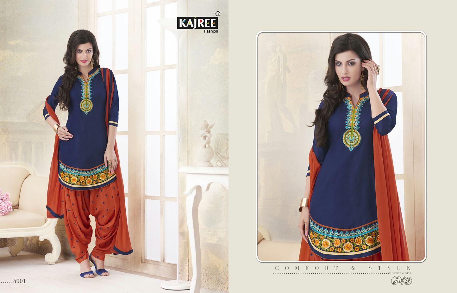 Fashion Patiyala Vol 8 – Embroidery Patiyala Style Cotton Dress