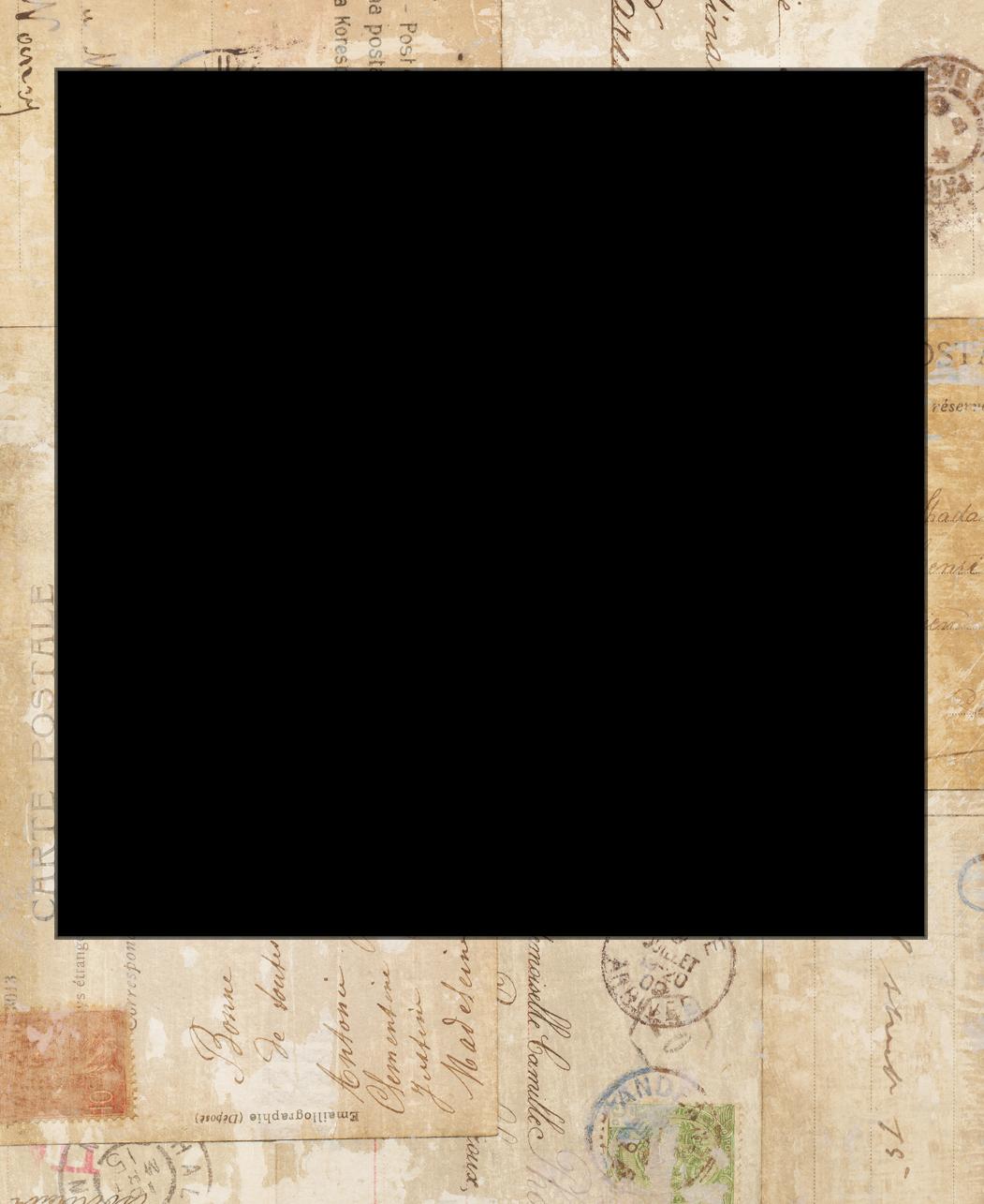 vintage polaroid template