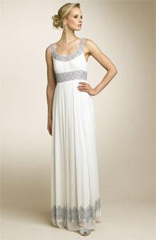 White Grecian Wedding Dress