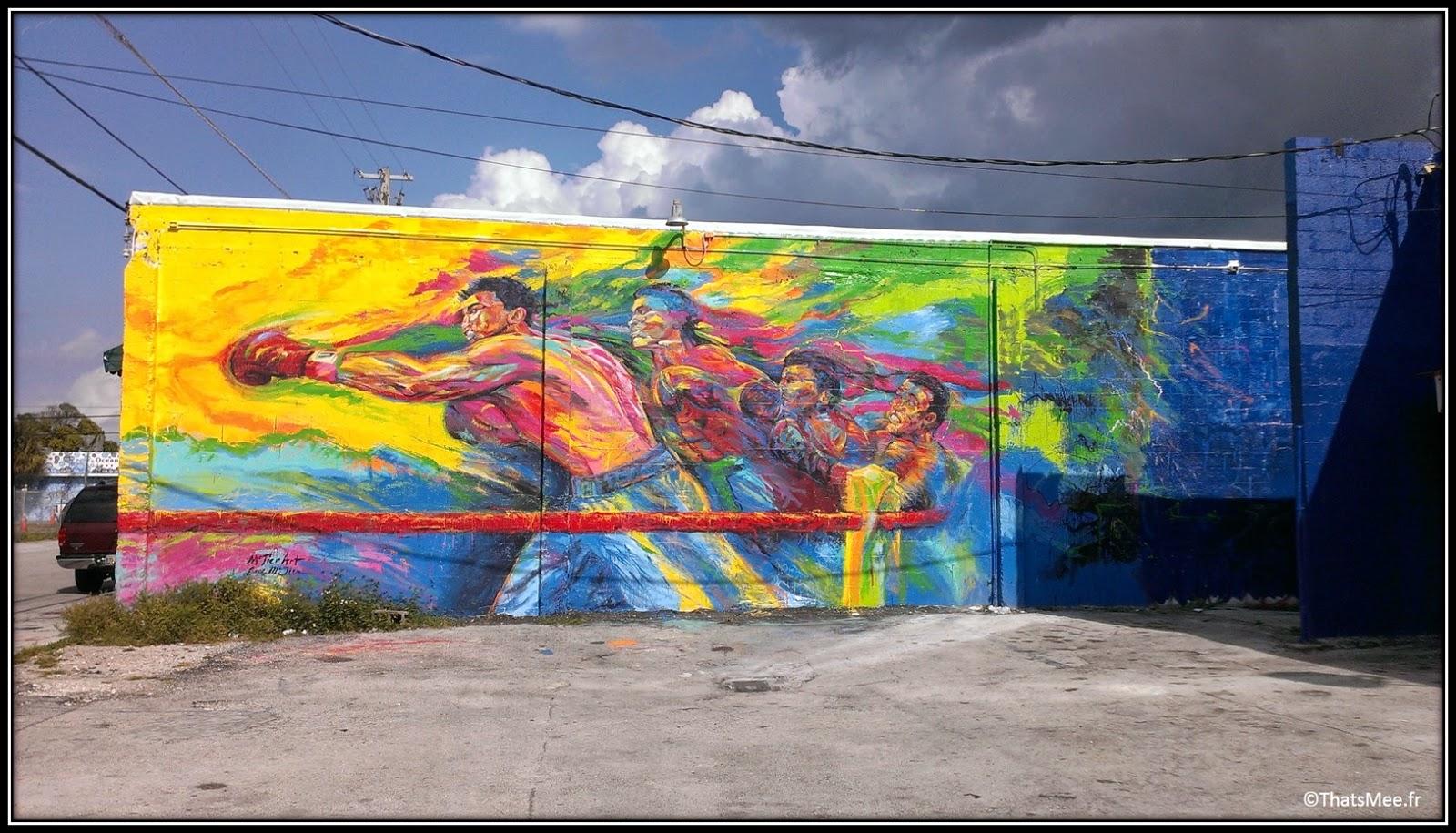mohammed Ali club de boxe Wynwood fight club, Miami Art Basel street art