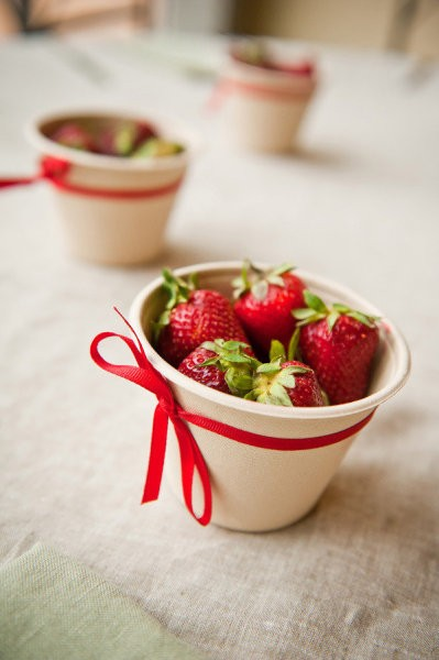 como servir fresas