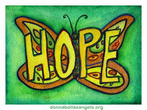 Hope Word Butterfly Art Painting