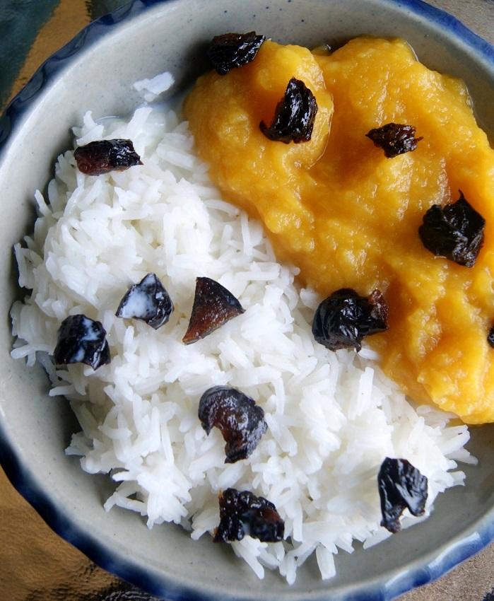 Ryż na slodko z dżemem z dyni