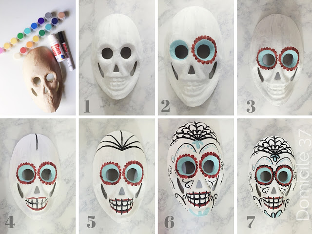 Day of the Dead Painted Sugar Skull Mask Tutorial