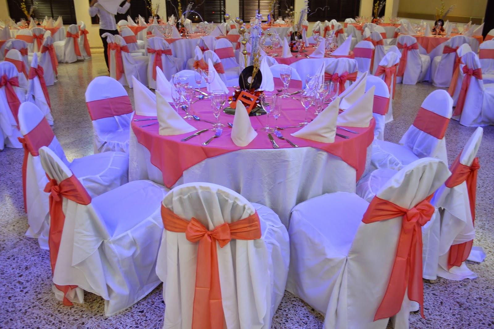 Events planners by maria eva quince a os tematicos a os 60 for Decoracion de sillas para 15