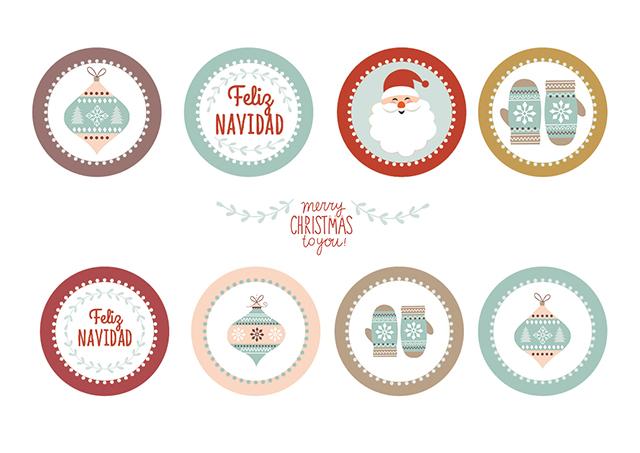 imprimible para fiesta navidad toppers