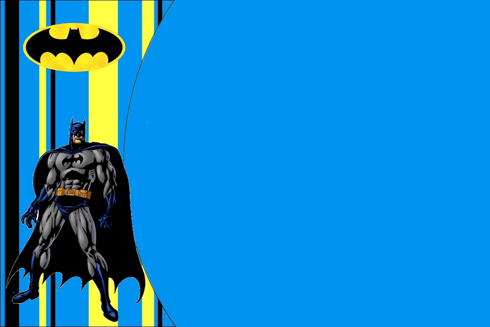 batman free printable invitations
