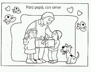 Dibujos del Dia del Padre para Pintar, parte 3