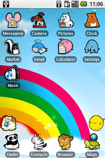 Screenshots of the Cute Animals for Android tablet, phone.