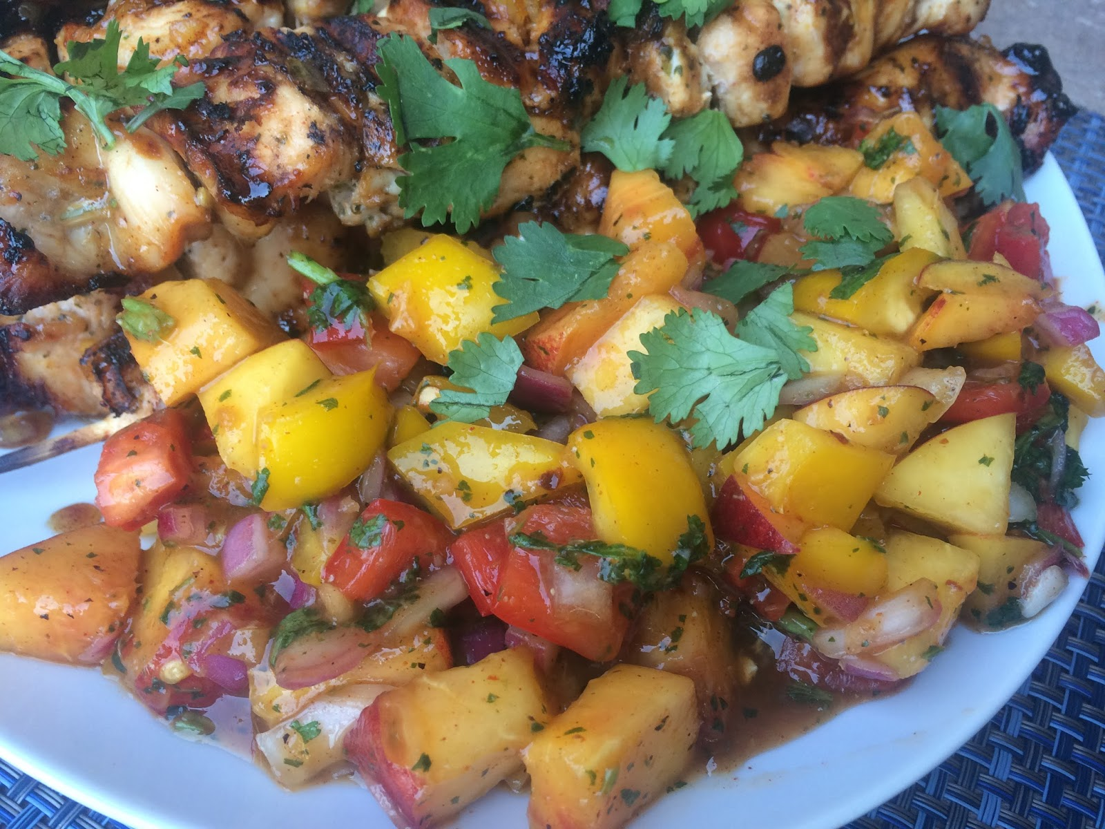 ... to Meals: Nectarine Chicken Kabobs with Sweet and Spicy Fruit Salsa