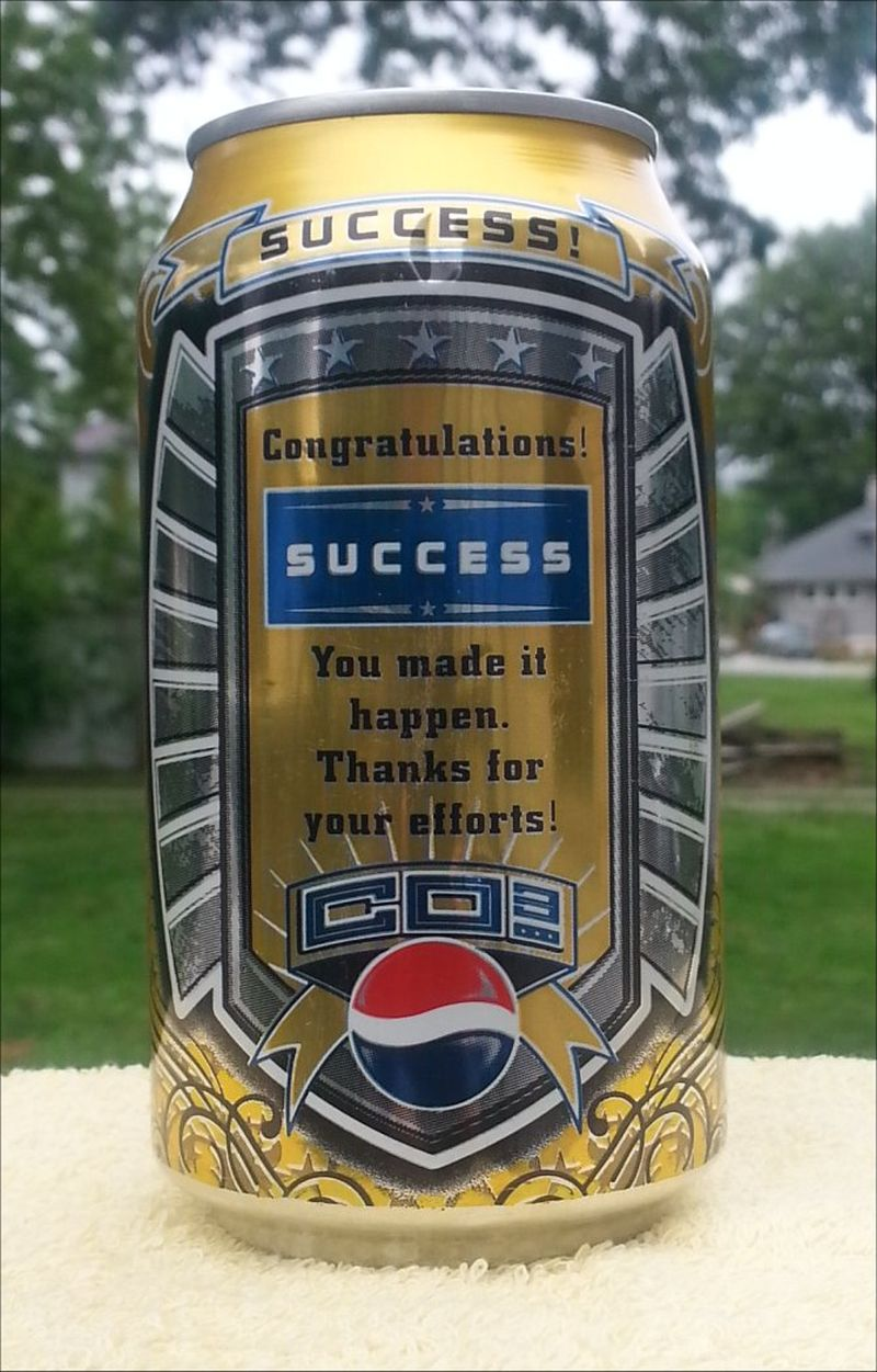 soda can collection the winner was pepsi