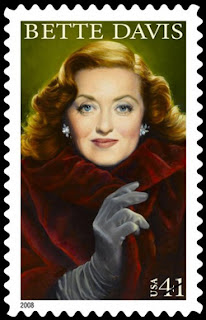 USPS stamp of Bette Davis with altered coat