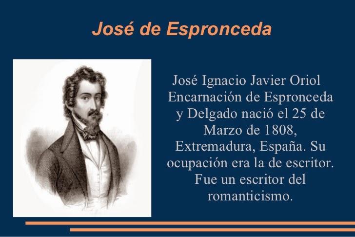 José de Espronceda; datos del autor