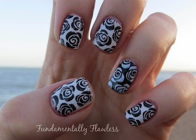 Black and white roses with MoYou Pro Collection XL 07
