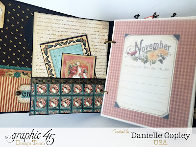 mixed media album planner using Graphic 45 Steampunk Debutante and Botanicabella and Time to Flourish