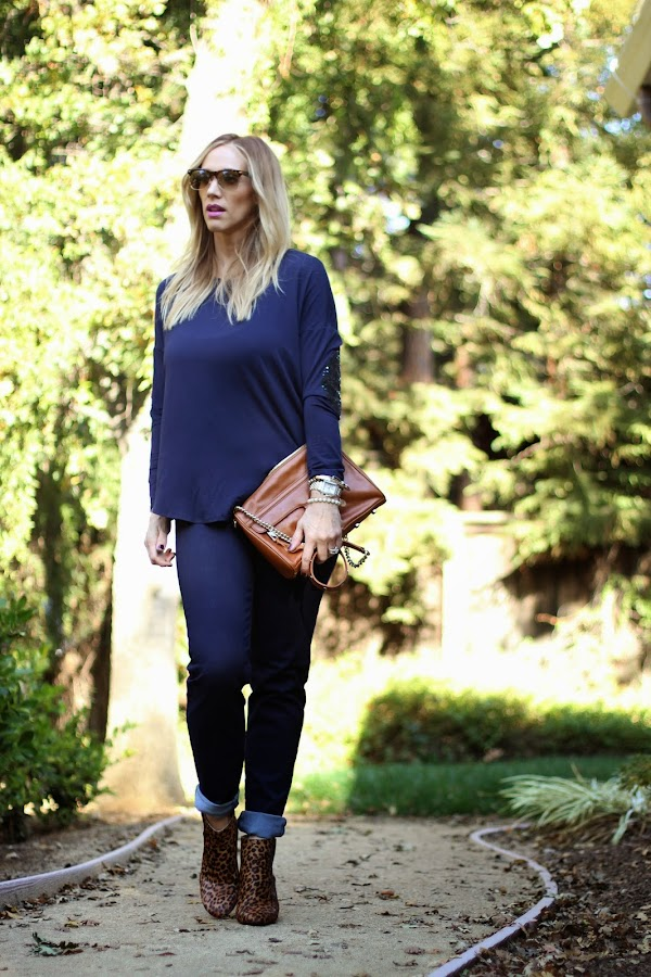 navy blue outfit